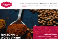 Vorschaubild der Homepage von Ramona Gewürze GmbH & Co. KG - Gewürzmühle & Gewürzsalze