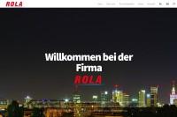 Vorschaubild der Homepage von ROLA Süßwarenhersteller