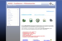 Vorschaubild der Homepage von BIV Filteranlagen und Ventilatoren