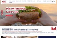 Vorschaubild der Homepage von Harry Brot GmbH