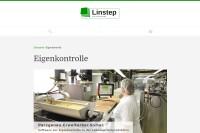 Vorschaubild der Homepage von Linstep HACCP-Software für Lebensmittelhersteller