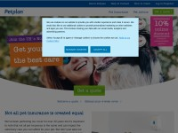 Click here to go to the Petplan Insurance website
