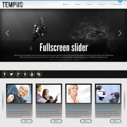 Tempus Scuba-diving Website Template