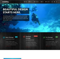 Mobility Scuba-diving Website Template