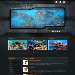 Precision Scuba-diving Website Template