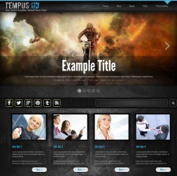 Tempus Motocross Website Template