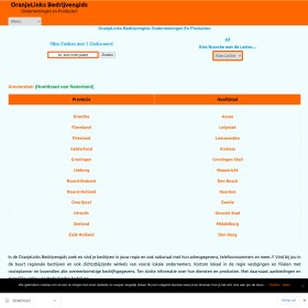 OranjeLinks Bedrijvengids - Bedrijven in jouw Regio