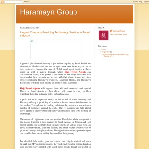 Largest Company Providing Technology Solution to Travel Industry - Haramayn Grou