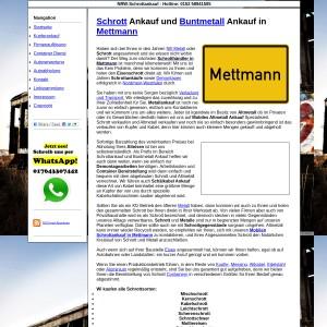 Schrottankauf in Mettmann und Ganz NRW