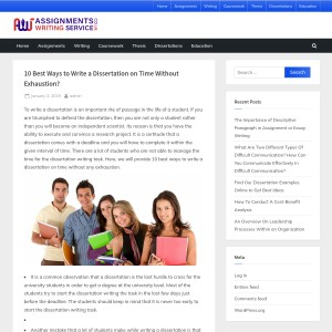 10 Best Ways to Write a Dissertation on Time Without Exhaustion? – Assignment