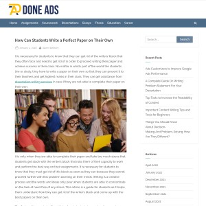 How Can Students Write a Perfect Paper on Their Own – Done Ads