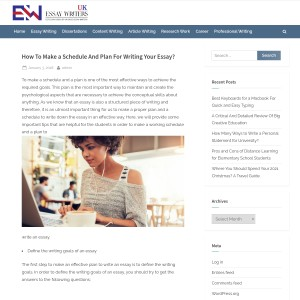 How To Make a Schedule And Plan For Writing Your Essay? | Essay Writers UK
