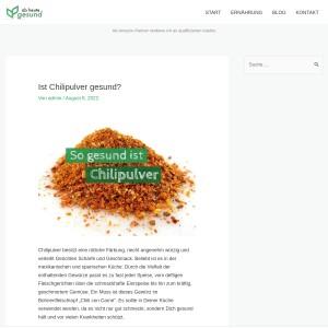 Ist Chilipulver gesund? | Ab heute gesund!