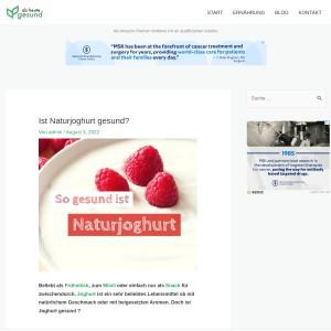 Ist Naturjoghurt gesund? | Ab heute gesund!