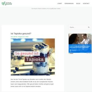 Ist Tapioka gesund? | Ab heute gesund!