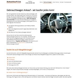 Gebrauchtwagen Ankauf ▷ gut erhalten ▷ defekt ▷ Unfallwagen