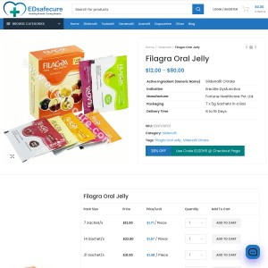 Filagra Oral Jelly(Sildenafil)| Buy Filagra Gel shots | Cheap