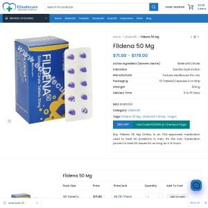 Buy Fildena 50 Medicine