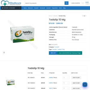 Buy Online Tadalip 10Mg best ed solution at edsafecure. Order now!!
