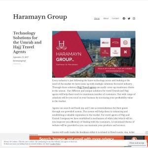 Technology Solutions for the Umrah and Hajj Travel Agents - Haramayn Group