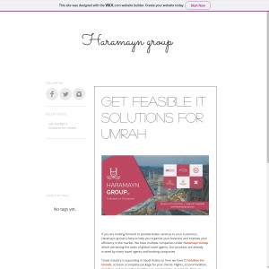 Get feasible It Solutions for Umrah - Haramayn Group