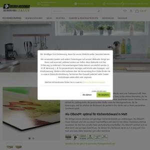 Küchenrückwand matt hochwertig stilvoll, Kuechenrueckwand, Spritzschutz Küche