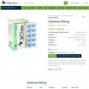 Cenforce 100 Mg (Sildenafil) | Cheap price + High Quality