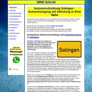 Autoverschrottung Solingen | Autoentsorgung in Solingen