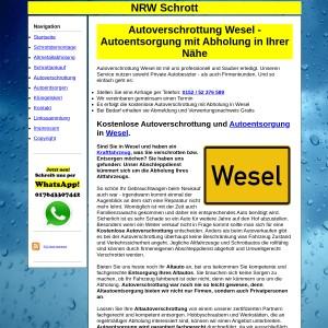 Autoverschrottung Wesel | Autoentsorgung in Wesel