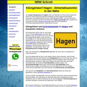 Kl&uuml ngelskerl Hagen   Schrottsammler Hagen