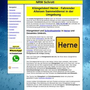 Kl&uuml ngelskerl Herne | Schrottsammler Herne