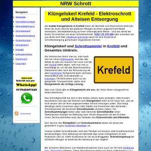 Kl&uuml ngelskerl Krefeld   Schrottsammler Krefeld