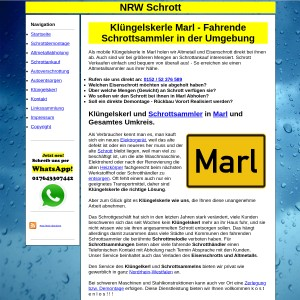 Kl&uuml ngelskerl Marl | Schrottsammler Marl