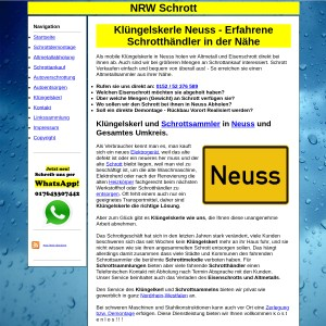 Kl&uuml ngelskerl Neuss | Schrottsammler Neuss