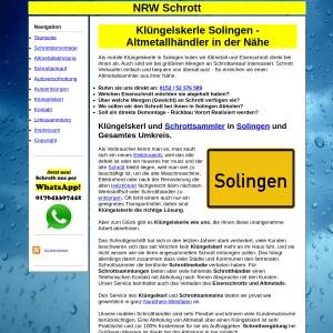 Kl&uuml ngelskerl Solingen | Schrottsammler Solingen