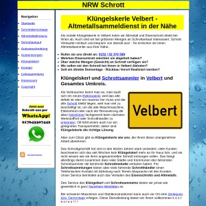Kl&uuml ngelskerl Velbert | Schrottsammler Velbert