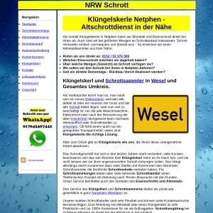 Kl&uuml ngelskerl Wesel | Schrottsammler Wesel