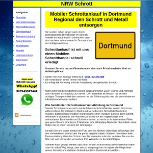 Mobiler Schrottankauf in Dortmund - Fair den Schrott und Metall entsorgen