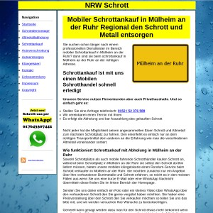 Mobiler Schrottankauf in M&uuml lheim an der Ruhr - Fair den Schrott und Metall