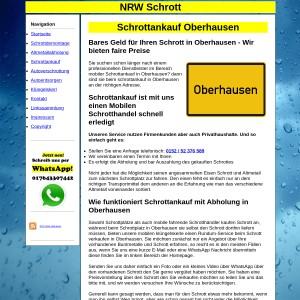 Mobiler Schrottankauf in Oberhausen - Fair den Schrott und Metall entsorgen