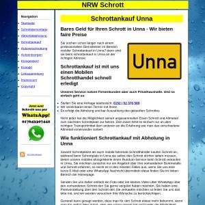Mobiler Schrottankauf in Unna - Fair den Schrott und Metall entsorgen