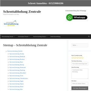 Sitemap - Schrottabholung Zentrale - Schrottabholung Zentrale