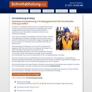 Schrottabholung Arnsberg • kostenlos • inklusive Demontage