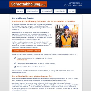 Schrottabholung Dorsten • Altmetall | Kfz-Schrott | Kabel