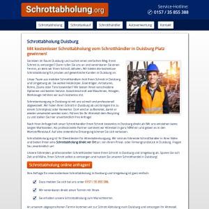 Schrottabholung Duisburg • kostenlos Altmetall und Schrott entsorgen
