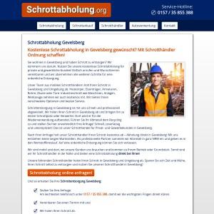 Schrottabholung Gevelsberg • kostenlos • inklusive Demontage