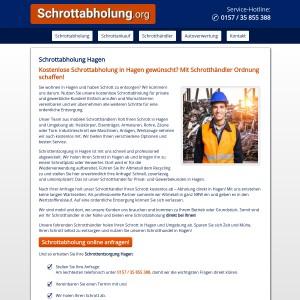 Schrottabholung Hagen • kostenlos • inklusive Demontage