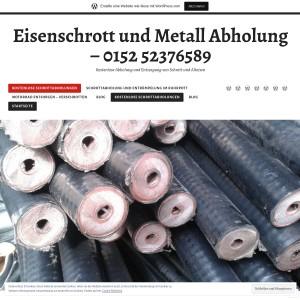 Eisenschrott und Metall Abholung Kostenlose Abholung und Entsorgung von Schrott