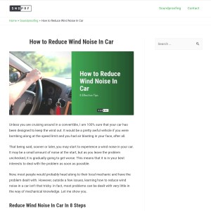 How to Reduce Wind Noise In Car - sndprf