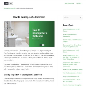 How to Soundproof a Bathroom In 9 Steps [DIY]